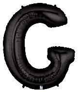 "40"" Megaloon Large Foil Letter Shape Balloon G Black"
