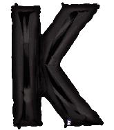 "40"" Megaloon Large Foil Letter Shape Balloon K Black"
