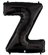 "40"" Megaloon Large Foil Letter Shape Balloon Z Black"