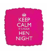 "18""Keep Calm - Hen Night Pink Foil Balloon"