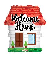 "18"" Welcome Home Shape Foil Balloon"