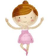 "36"" Ballerina Shape Foil Balloon"