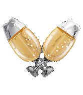 "36"" Champagne Glasses Shape Foil Balloon"