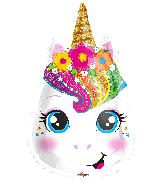 "18"" Unicorn Face Shape Foil Balloon"