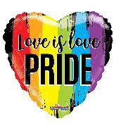 """18"""" Love Is Pride Gellibean Foil Balloon"""