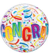 "22"" Round Congratulations Around Bubble Balloon"