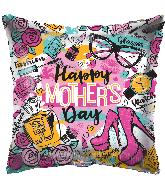 "18"" Happy Mother's Day Fashion Gellibean Foil Balloon"