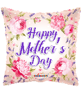 """36"""" Happy Mother's Day Classic Flowers Foil Balloon"""