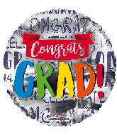 """9"""" Congrats Grad! Banner Foil Balloon"""
