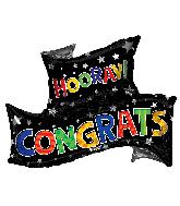 "36"" Congrats Grad Banner Shape Foil Balloon"