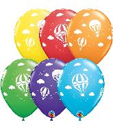 """11"""" Hot Air Balloons Bright (50 Per Bag) Latex Balloons"""