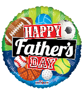 "18"" Happy Father's Day Sports Gellibean Foil Balloon"