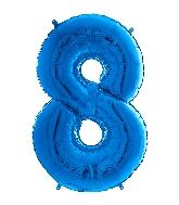 "26"" Midsize Foil Shape Balloon Number 8 Blue"