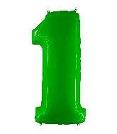 "40"" Foil Shape Balloon Number 1 Fluorescence Lime"