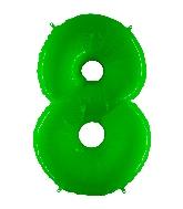 "40"" Foil Shape Balloon Number 8 Fluorescence Lime"