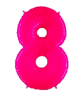 "40"" Foil Shape Balloon Number 8 Fluorescence Pink"