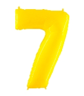 "40"" Foil Shape Balloon Number 7 Fluorescence Yellow"