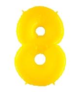 "40"" Foil Shape Balloon Number 8 Fluorescence Yellow"