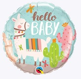"""18"""" Hello baby Llama Balloon"""