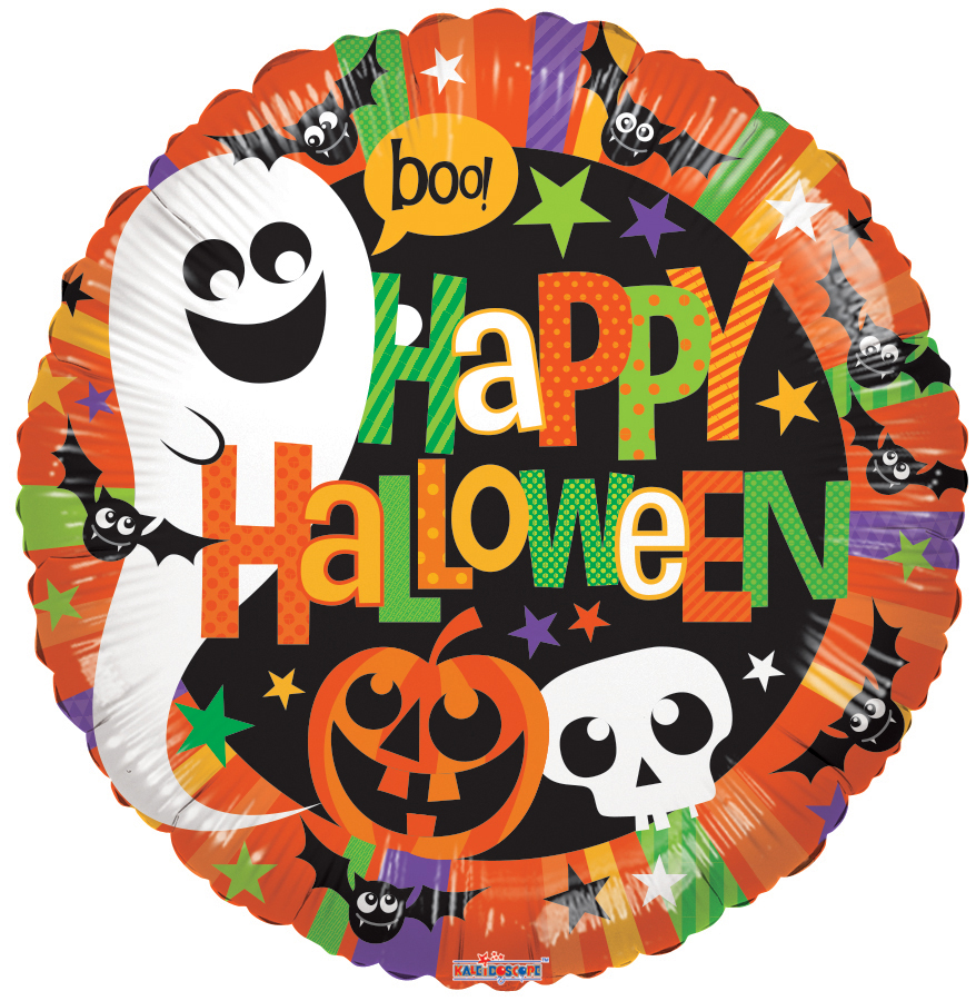 "18"" Halloween Happy Ghost Foil Balloon"