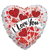 """9"""" Airfill Only Love You Banner Holographic Foil Balloon"""