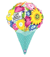 """31"""" Multi-Sided Dimensionals Birthday Foil Balloon"""