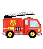 "40"" Foil Shape Fire Truck Foil Balloon"