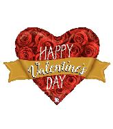 "32"" Foil Shape Valentine Rose Banner Foil Balloon"