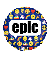 "18"" MAX Float Emoji Epic Foil Balloon"