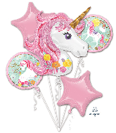 Bouquet Magical Unicorn Foil Balloon