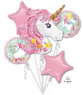 Bouquet Magical Unicorn Foil Balloon