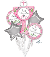 Bouquet Communion Day Girl Foil Balloon