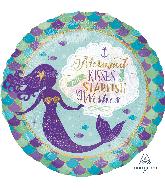 "18"" Mermaid Wishes & Kisses Foil Balloon"
