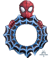 """32"""" Airfill Only Spider-Man Frame Foil Balloon"""