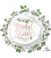 "30"" Jumbo Love & Leaves Bridal Shower Foil Balloon"