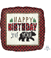 "28"" Jumbo Little Lumberjack Birthday Foil Balloon"
