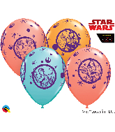 "11"" Latex Balloons Star Wars: 25 Per Bag Assorted"