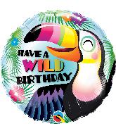 """18"""" Round Have a Wild Birthday Foil Balloon"""