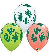 """11"""" Latex Balloons Cactuses 50 Per Bag"""