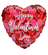 """18"""" Valentine's Bunch Of Hearts Foil Balloon"""