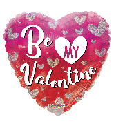 """18"""" Be My Valentine Hearts Holographic Foil Balloon"""