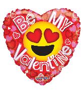 "18"" Be My Val Smiley Gellibean Foil Balloon"