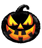 "18"" Black Pumpkin Foil Balloon"