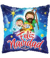 """18"""" Feliz Navidad Nacimiento Foil Balloon"""