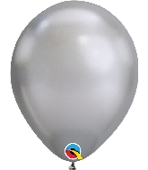 "11"" Chrome Silver 100 Count Qualatex Latex Balloons"
