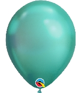 "11"" Chrome Green 100 Count Qualatex Latex Balloons"