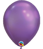 "11"" Chrome Purple 100 Count Qualatex Latex Balloons"