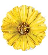 "18"" Yellow Rhinestone Daisy Foil Balloon"
