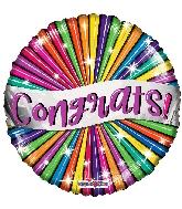 """18"""" Congrats Banner & Stars Foil Balloon"""