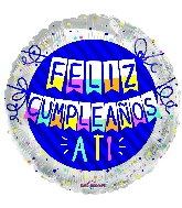"18"" Feliz Cumple Pennants Foil Balloon"